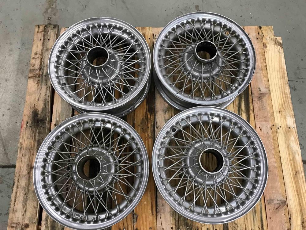 Jaguar XKE E Type Dayton Wire Wheels Rims 17 x 6 Set of 4 OEM - For ...