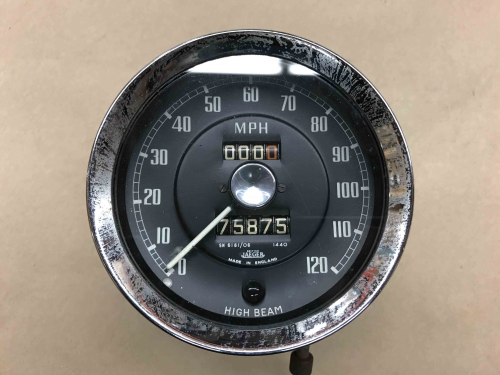 Mercedes For Sale >> MG MGA 1500 1600 JAEGER Speedometer Speedo MPH Gauge SN 6161 06 High Beam Light - For Sale ...