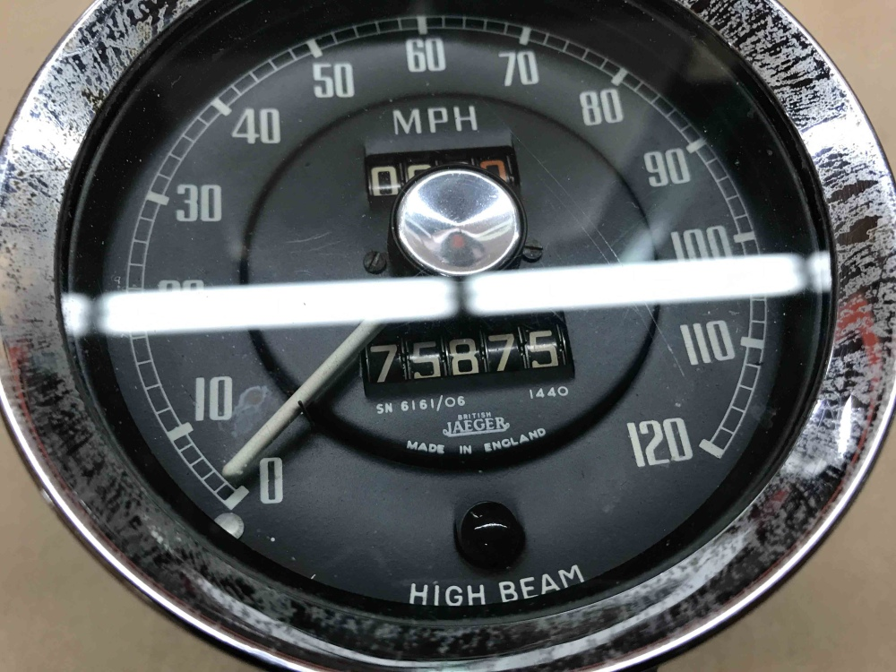 MG MGA 1500 1600 JAEGER Speedometer Speedo MPH Gauge SN ...